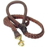 Braided Leather Dog Leash For Working Dogs
