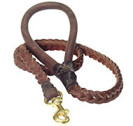 Braided Leather Dog Leash 4 foot-Braided Lead working dogs