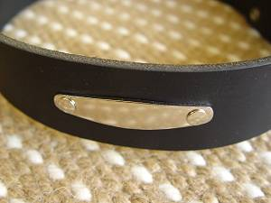 Similar to Preppy Dog Collar With Name Plate ID Tag for schutzhund dogs