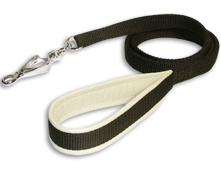 3/4 inch Padded Handle Dog Leash-schutzhund dogs Leash