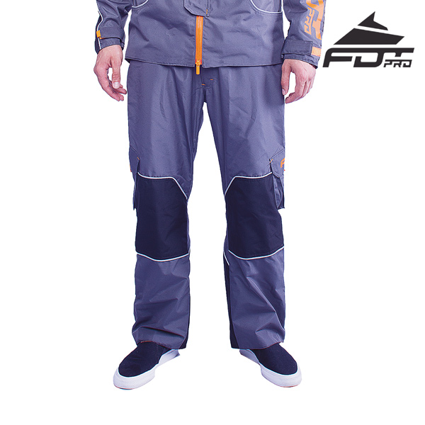 FDT Professional Pants of Grey Color for Cold Seasons