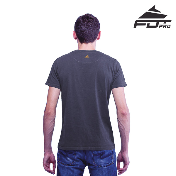 Men T-shirt Dark Grey FDT Professional for Dog Trainers