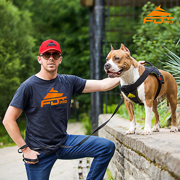 Men T-shirt of Quality Cotton with Pro Logo for Dog Trainers