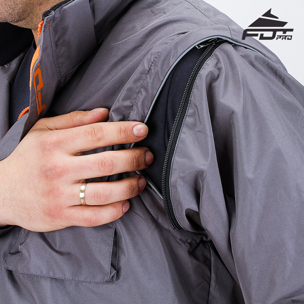 High Quality Zipper on Sleeve for Pro Design Dog Tracking Jacket