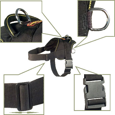 Hug a dog harness for schutzhund dogs