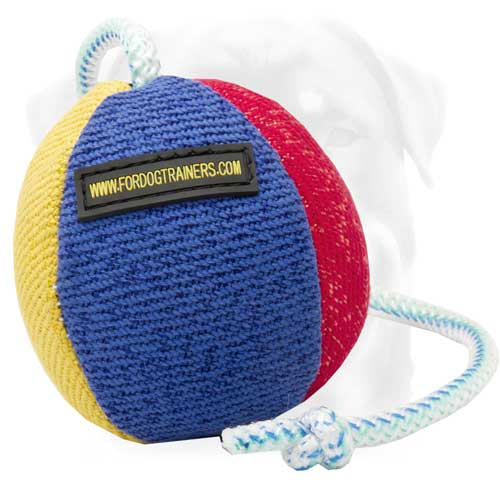 French Linen Dog Ball Colored