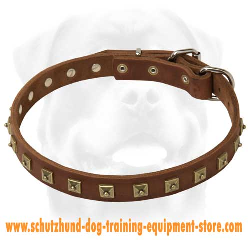 Marvellous Leather Dog Collar
