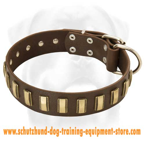 Grand Leather Dog Collar