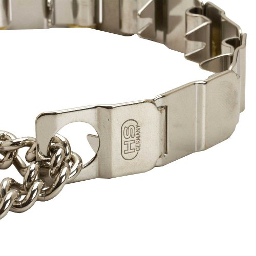 Stainless Steel Links on Herm Sprenger Pinch Dog Collar Neck Tech