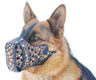Magma Painted Leather Dog Muzzle