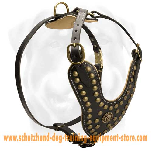 Top Quality Leather Dog Harness