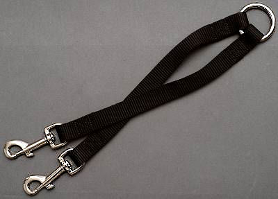 Nylon 2-Way Couplers Leash for 2 schutzhund dogs