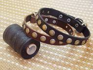 Puppy small dog collar- Leather Special Dog Collar With Circles