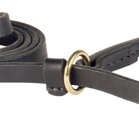 Leather Slip Lead 6 FT on 1/2'' for schutzhund dogs