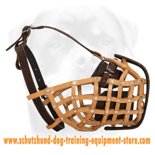 Leather Dog Muzzle For Attack And Agitation Training