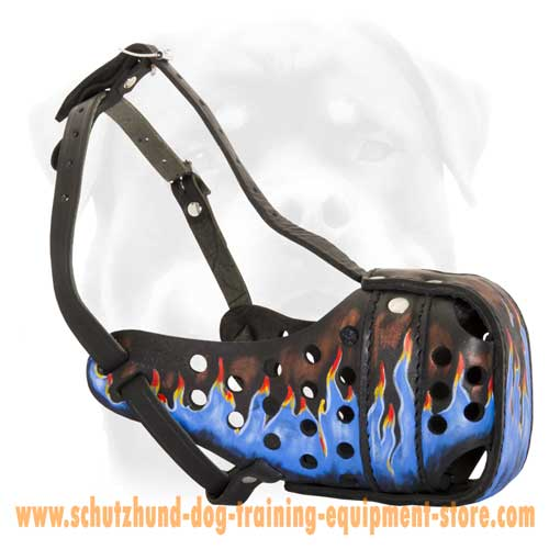 Leather Dog Muzzle For Stylish Walking