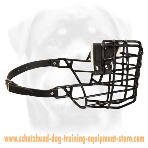 A-number Wire Basket Dog Muzzle With Cold Protection