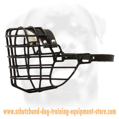 Wire Basket Dog Muzzle Designed For Winter Activities