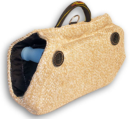 Fashion Jute Bite Wedge Tug Toy with Hidden Handles